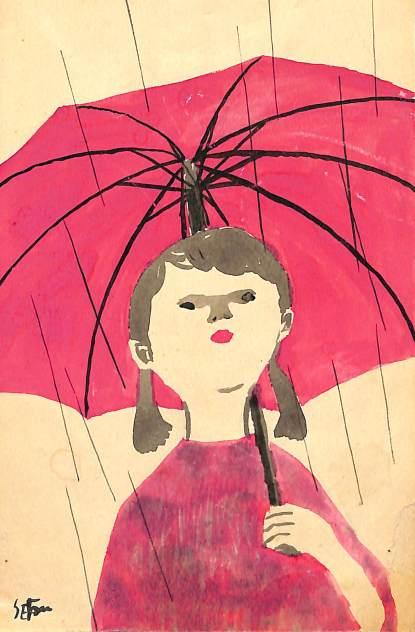 梅雨と少女
